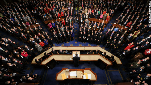President Barack Obama delivers his annual State of the Union address on January 25, 2011.