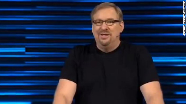 A slimmer Rick Warren addressed the congregation on January 14.