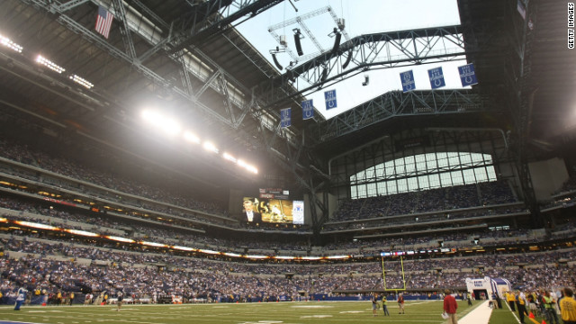 Some 150,000 people are expected to flood into downtown Indianapolis where the game will be played at Lucas Oil Stadium.