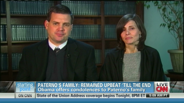 Family: Paterno upbeat until the end