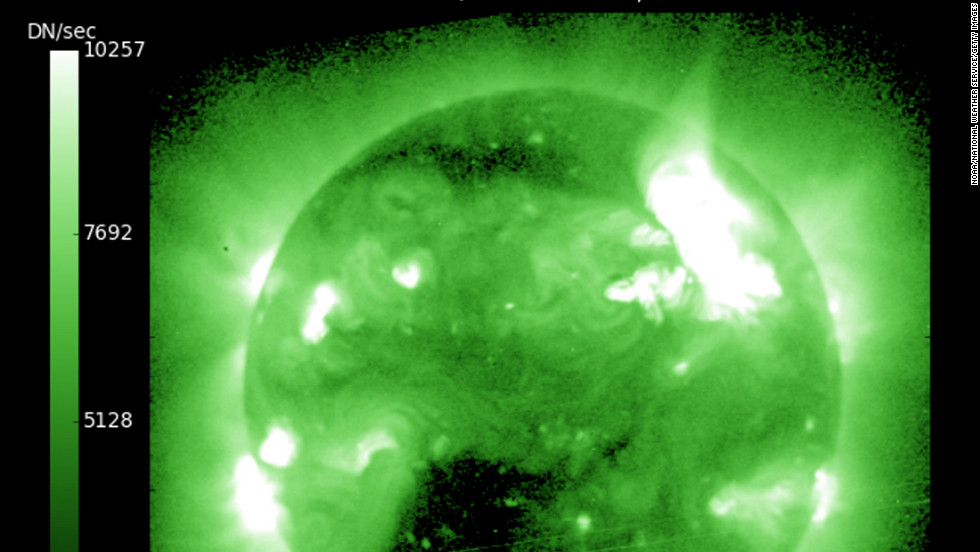 "The largest solar storm for seven years is expected to send a shower of <a href=""http://www.nasa.gov/mission_pages/sunearth/news/News012312-M8.7.html"" target=""_blank"">radioactive solar particles racing towards Earth</a> at almost 1,400 miles a second this week, according to <a href=""http://www.nasa.gov/"" target=""_blank"">NASA</a>."