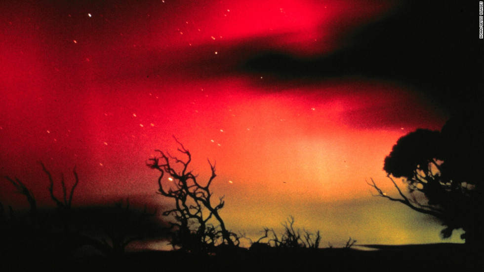 """In the southern hemisphere, the same colorful phenomena are known as the Aurora Australis, or Southern Lights. Have you spotted any unusual light displays thanks to the solar flares? <a href=""""http://ireport.cnn.com/topics/1309"""" target=""""_blank"""">Submit your photos and video to iReport.</a>"""