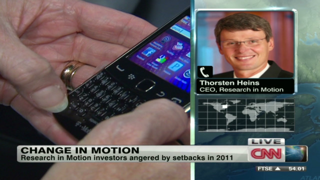 BlackBerry maker has a new CEO