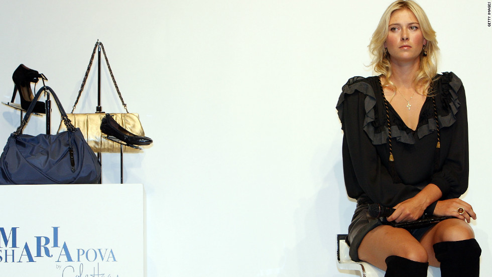 Sharapova at the launch of a Cole Haan collection of clothing and accessories bearing her name.