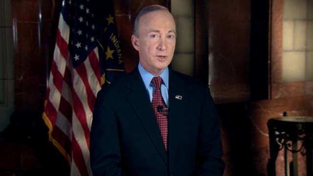 Indiana Gov. Mitch Daniels gives the GOP response to the State of the Union speech.
