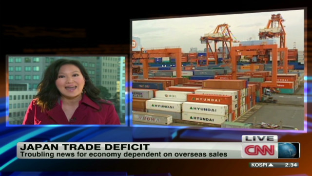 Japan announces trade deficit
