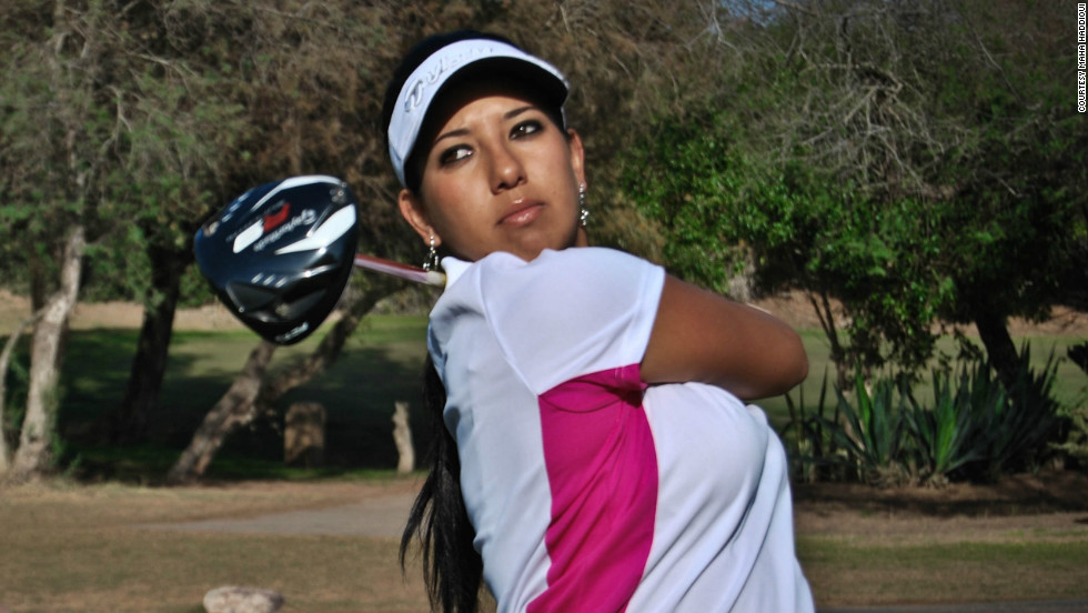 Maha Haddioui is the first  Arab woman to play golf in a professional tour event. She aims to earn her card on the Ladies' European Tour and LPGA in the United States.