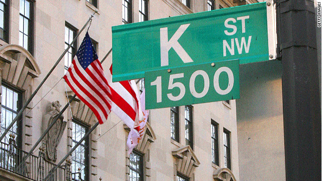 K Street, a corridor of influence in Washington, is home to many lobbying firms.