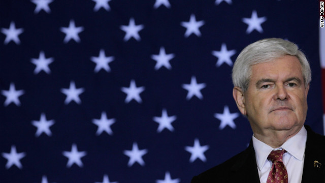 GOP candidate Newt Gingrich appears at a campaign event on January 25 in Cocoa, Florida.