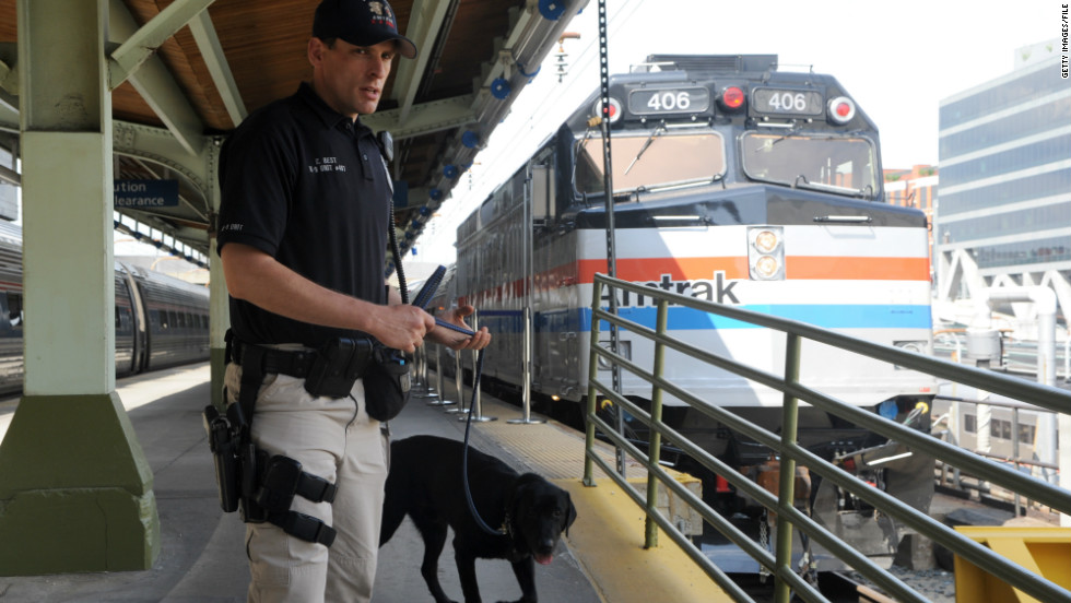 Amtrak police coordinate with the TSA to spot-check Amtrak's 21 million annual passengers.
