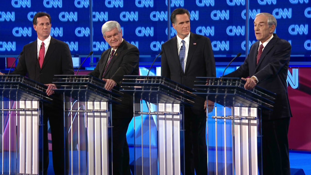 GOP candidates go at it during debate