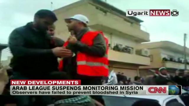 Arab League suspends Syria mission
