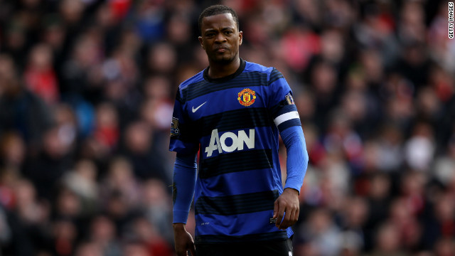 Patrice Evra played in the game at Liverpool, where a man was arrested on suspicion of making a racially abusive gesture.