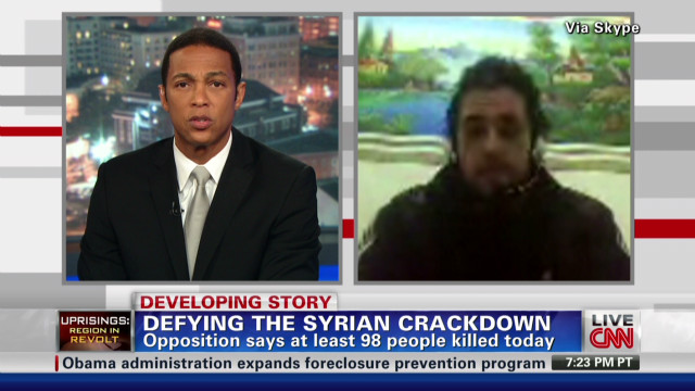 Syrian activist speaks