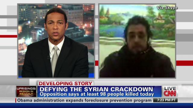 Syrian activist speaks