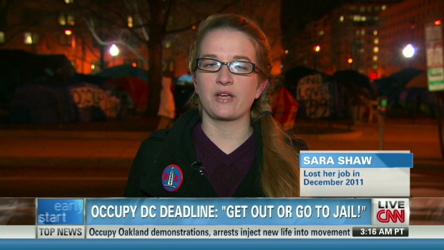 Occupy protester: We're not going away