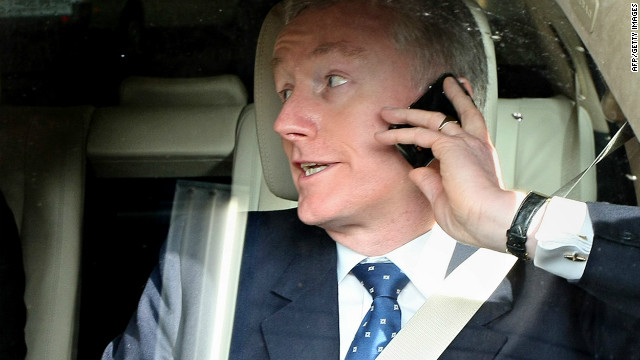 Fred Goodwin, former chief executive officer of the Royal Bank of Scotland, pictured on April 23, 2008
