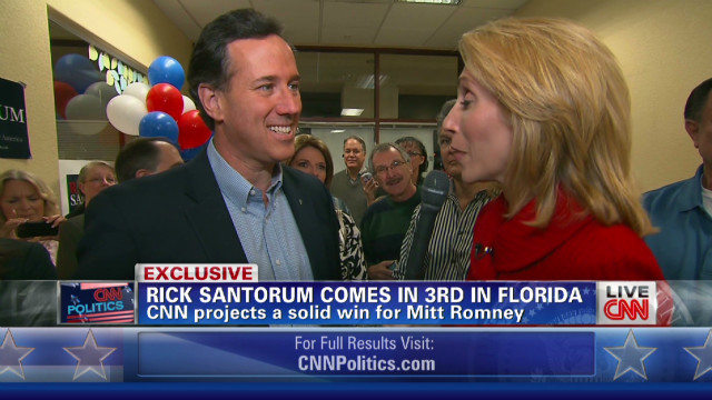 Santorum 'couldn't compete' in Florida