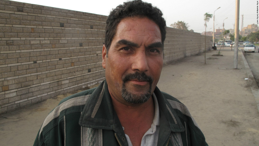Mohamed Sayyd, 47, is an ex-convict. He was let out of prison during the revolution and told to go into Tahrir Square to battle protesters.  Sayyd gives the film an insight into the system of fear that keeps people doing the state's bidding, says Lom.
