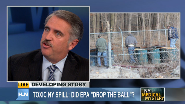 Toxic NY spill: EPA sampling drums