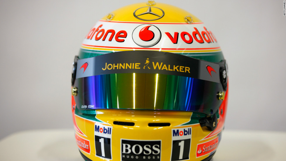 Hamilton endured a troubled 2011 campaign, but still matched Button's total of three race victories. The 27-year-old, who will wear this yellow helmet, was summoned to the stewards' office on several occasions and had a public spat with Ferrari driver Felipe Massa.