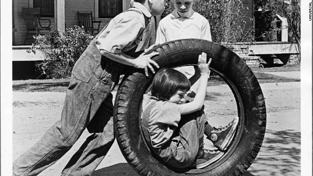 The famous tire scene.