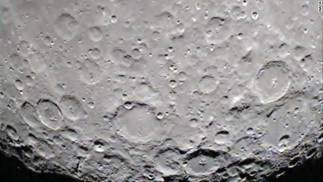 The GRAIL mission's Ebb spacecraft took this picture of the south pole of the far side of the moon.
