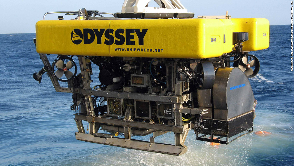As a result, companies such as Florida based Odyssey Marine are able to utilize advanced tools such as remote controlled ROV's to scour the ocean depths for treasure.