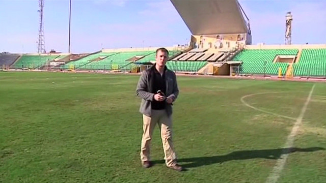 Inside Port Said stadium