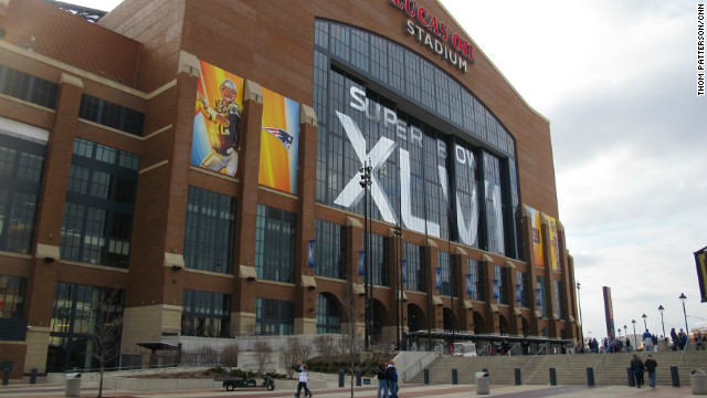 Indianapolis' Lucas Oil Stadium will host the Super Bowl XLVI on Sunday.