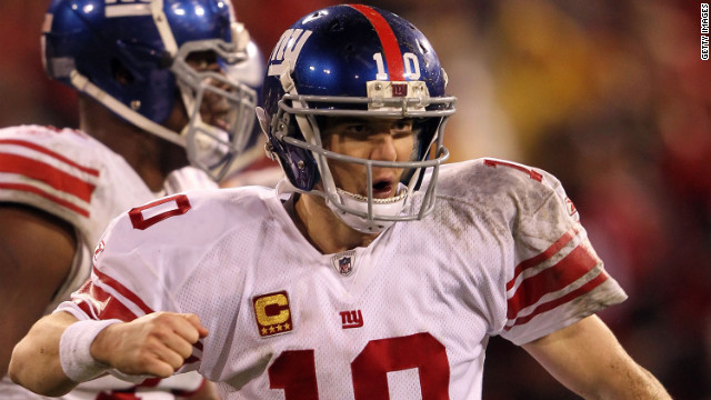 Eli Manning during the 2012 NFC Championship at Candlestick Park in San Francisco