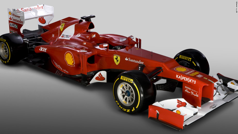 The most striking aspect of the car's design is the new steeped-nose feature. The change has been made to conform to new regulations regarding the height of the front chassis.