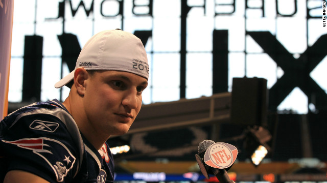 Speaking at the Super Bowl media day, Gronkowski says he's still not sure if he'll play Sunday.