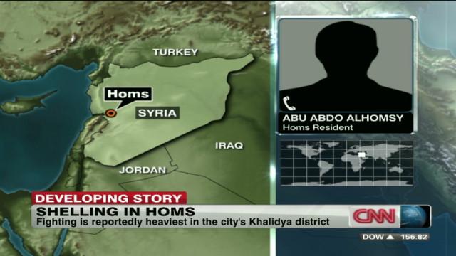 Homs resident: 'A massacre happening'