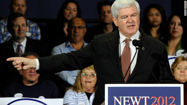 Newt Gingrich campaigns Friday in Las Vegas, the day before losing the Nevada caucuses to Mitt Romney.