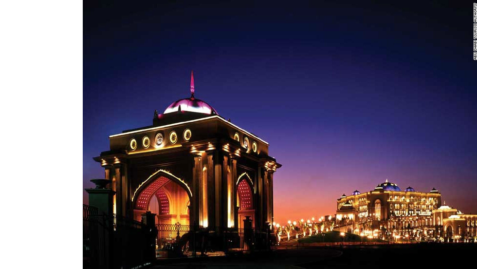 The spectacular Emirates Palace Hotel was built to show off the country's rich architectural heritage.