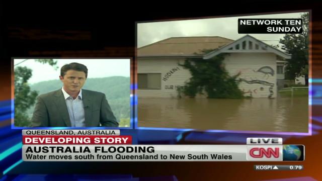 Fleeing the flooding in Australia