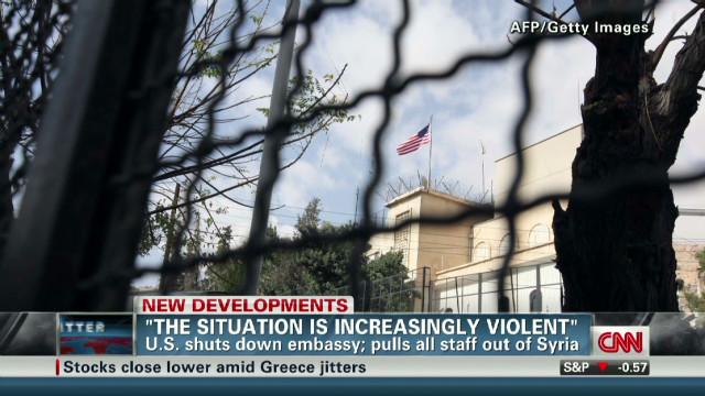 U.S. shuts down embassy in Syria