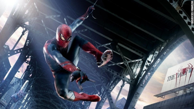 """The Amazing Spider-Man"" easily swung into first place at the weekend box office."
