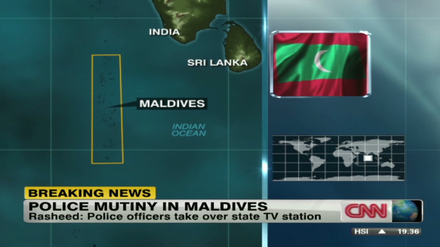 Police mutiny in Maldives
