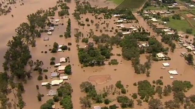 Australian town under water