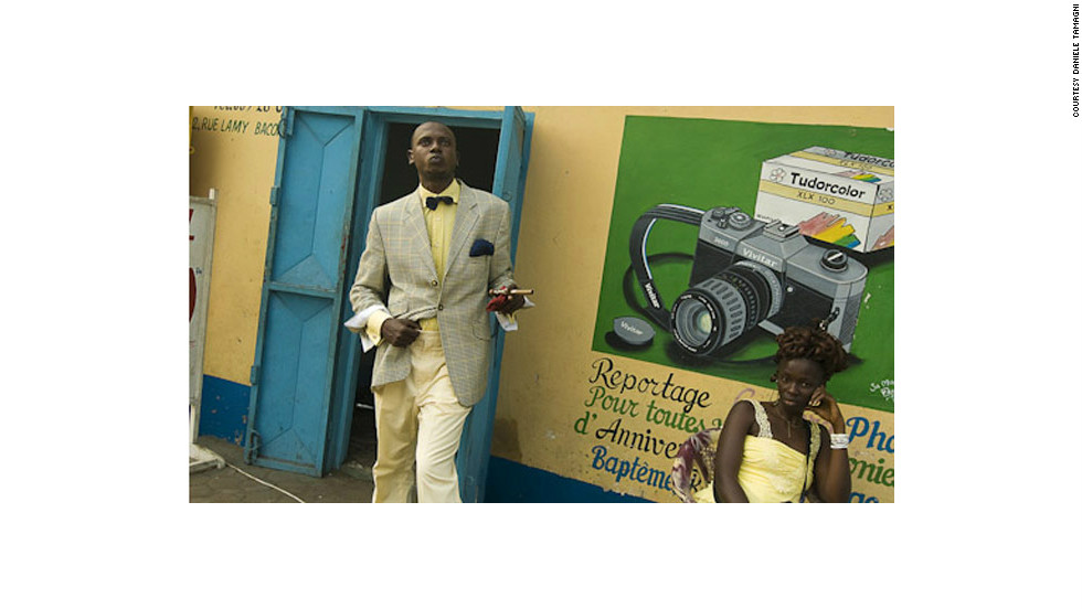 "<a href=""http://www.photodantam.com/"" target=""_blank"">Tamagni</a> traveled to Brazzaville in 2008 to photograph the Sapeurs. Kinshasa, in DR Congo, has its own Sapeur scene."