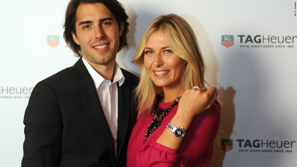 The romance between Russian tennis ace Sharapova and Slovenian basketballer Vujacic blossomed in 2009 before their engagement was announced in October the following year. The former L.A. Lakers star can often be seen courtside, cheering the three-time grand slam winner on at major tournaments. He now plys his trade in Turkey.