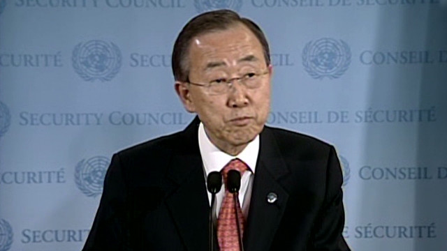 U.N.'s Ban condemns Syrian 'brutality'