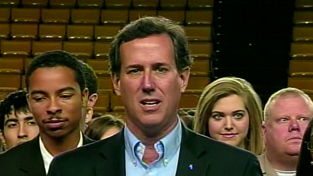 Santorum on contraceptive coverage law