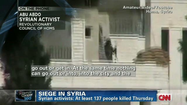 Activist: Food, medicine low in Homs
