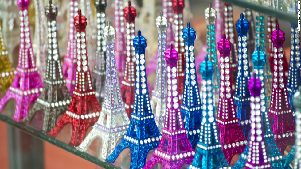 """Visiting Paris for the first time, my wife and I stopped in a gift shop near the Eiffel Tower, where these brightly colored souvenirs caught my eye"" Thomas Toerpe said of his photo."