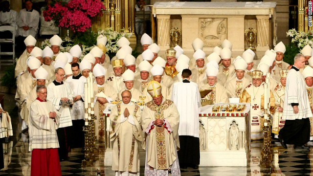 Catholic bishops, shown at St. Patrick's Cathedral in New York, extracted a victory on the issue of contraceptive coverage.