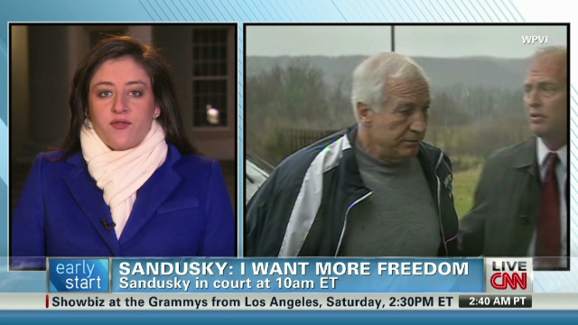 Sandusky looks for more freedom