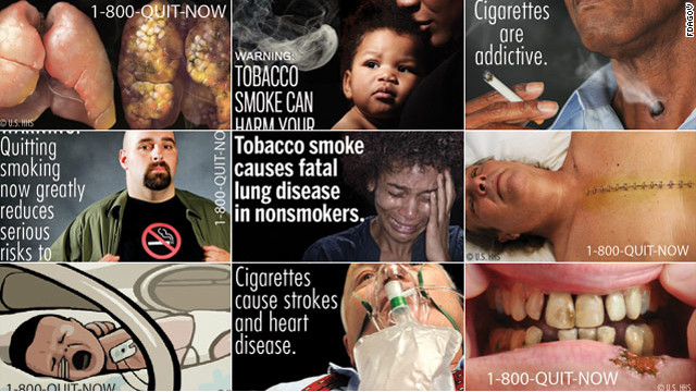 Cigarette companies are fighting an FDA mandate in court that would compel them to show graphic warnings on cigarette packs